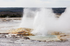 Clepsydra Geyser at the Fountain Pot area of Yellowstone Nationa Stock Photo