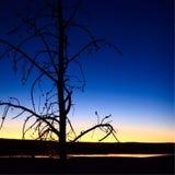 Clepsydra Geyser Silhouette at Sunset stock photos