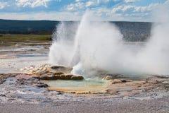 Clepsydra-Geysir, Brunnen-Lack-Potenziometer, Yellowstone stockfoto