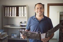 Clerck przy kartotekami zdjęcia royalty free