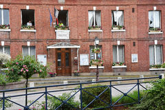 Cleres, France - june 23 2016 : village center Stock Photos