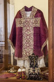 Clergy vestments - Chasuble, Rochet and Maniple Stock Image
