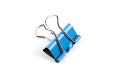 Clerical clip for paper. Color clerical clip for paper on white background royalty free stock image