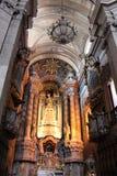 Clerigos教会是一个巴洛克式的教会在市波尔图,在葡萄牙 里面内部 图库摄影