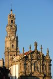 Clerigos Church bell tower in the old town. Porto. Portugal Royalty Free Stock Image