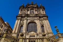 Clerigos church. Facade in the city of porto Stock Photos