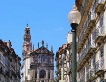 Clerigos Church in Porto Stock Images