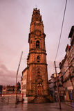 Clerigos Church Tower at Sunset in Porto Royalty Free Stock Photo