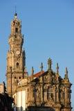 Clerigos-Kirchenglocketurm in der alten Stadt. Porto. Portugal Lizenzfreies Stockbild