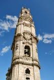 Clerigos Kontrollturm in Porto (Portugal) Stockbild