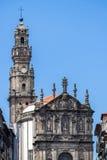 Clerigos kyrka i Porto, Portugal Royaltyfri Bild