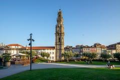 Clerigos Tower, a bell tower of Clerigos Church royalty free stock photos