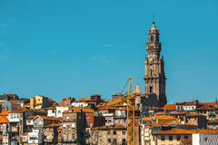 Clerigos tower at Old Porto, Portugal. Travel. Stock Images