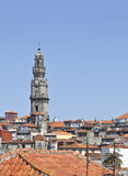 Clerigos Tower and Porto Old City Royalty Free Stock Image