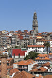 Clerigos Tower and Porto Old City Royalty Free Stock Photos
