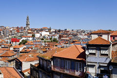 Clerigos Tower and Porto Old City Stock Photo