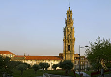 The Clerigos Tower of Porto. The Clerigos Tower is one of the most emblematic monuments of the Porto city Stock Photos