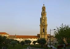The Clerigos Tower of Porto. Stock Photos