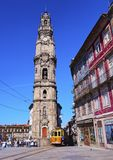 Clerigos Tower in Porto Royalty Free Stock Images
