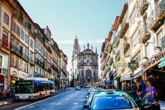 Clerigos-Turm Torre DOS Clerigos, Porto, Portugal Lizenzfreie Stockfotos