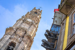 Clerigos wierza w Porto fotografia stock