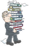 Clerk with folders Royalty Free Stock Photo