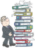 Clerk with folders Stock Photo