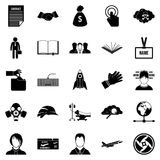 Clerk icons set, simple style. Clerk icons set. Simple set of 25 clerk vector icons for web isolated on white background Royalty Free Stock Image
