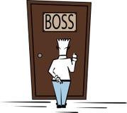 Clerk knocks the boss Stock Image