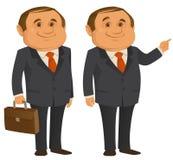 Clerk Man. A smiling clerk man wearing suit Royalty Free Stock Photography