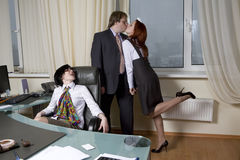 Clerk`s affair Royalty Free Stock Photo