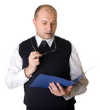 Clerk of the work Stock Image