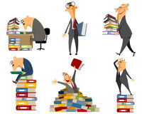 Clerk working with documents. Vector illustration of a clerk working with documents Royalty Free Stock Image