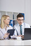 Clerks working in office Stock Photography