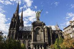 Clermont-Ferrand Cathedral in France Royalty Free Stock Image