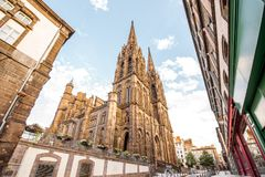 Clermont-Ferrand city in France Royalty Free Stock Photo