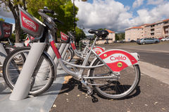 Clermont-Ferrand public bicycle  Royalty Free Stock Photo