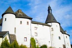 Clervaux Castle Chateau DE Clervaux in Clervaux, Luxemburg, Europa royalty-vrije stock foto