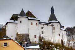 Clervaux Castle in Luxembourg Royalty Free Stock Image