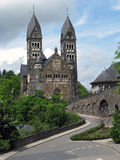 Clervaux (Luxembourg). Church Saints Cosmas and Damian in Clervaux (Luxembourg Stock Photo