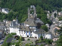 Clervaux in Luxembourg. Aerial scenery of Clervaux, a city in Luxembourg Royalty Free Stock Photography