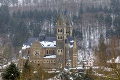 Clervaux parish church in Luxembourg Royalty Free Stock Photo