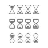 Clessidra, icone dei sandglass illustrazione vettoriale