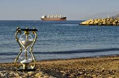 Clessidra su una spiaggia del Mar Rosso, Eilat Fotografie Stock