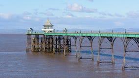 Clevedon码头在冬天 图库摄影