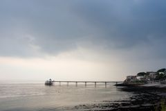 clevedon码头 库存照片