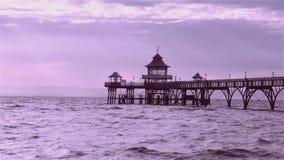 Clevedon码头,英国 免版税库存图片