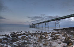 Clevedon Pier. During sunrise, early morning Royalty Free Stock Photo