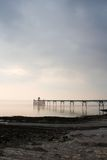 Clevedon Pier and foreshore. Clevedon Pier at sunset royalty free stock photography