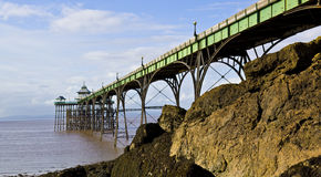 Clevedon pier at low water Royalty Free Stock Photos